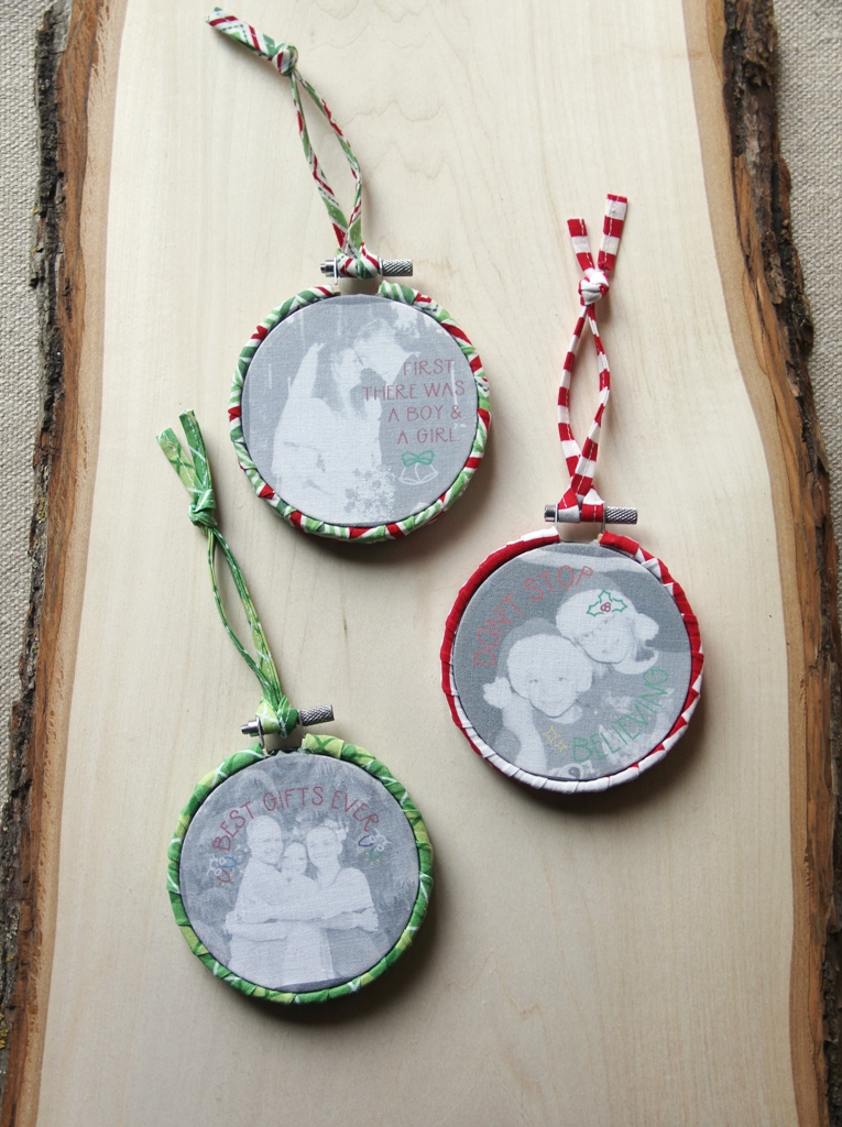 Photo Embroidery Hoop Ornaments