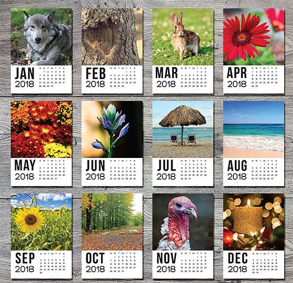 Printable Desk Calendar from BrianManfraPhoto