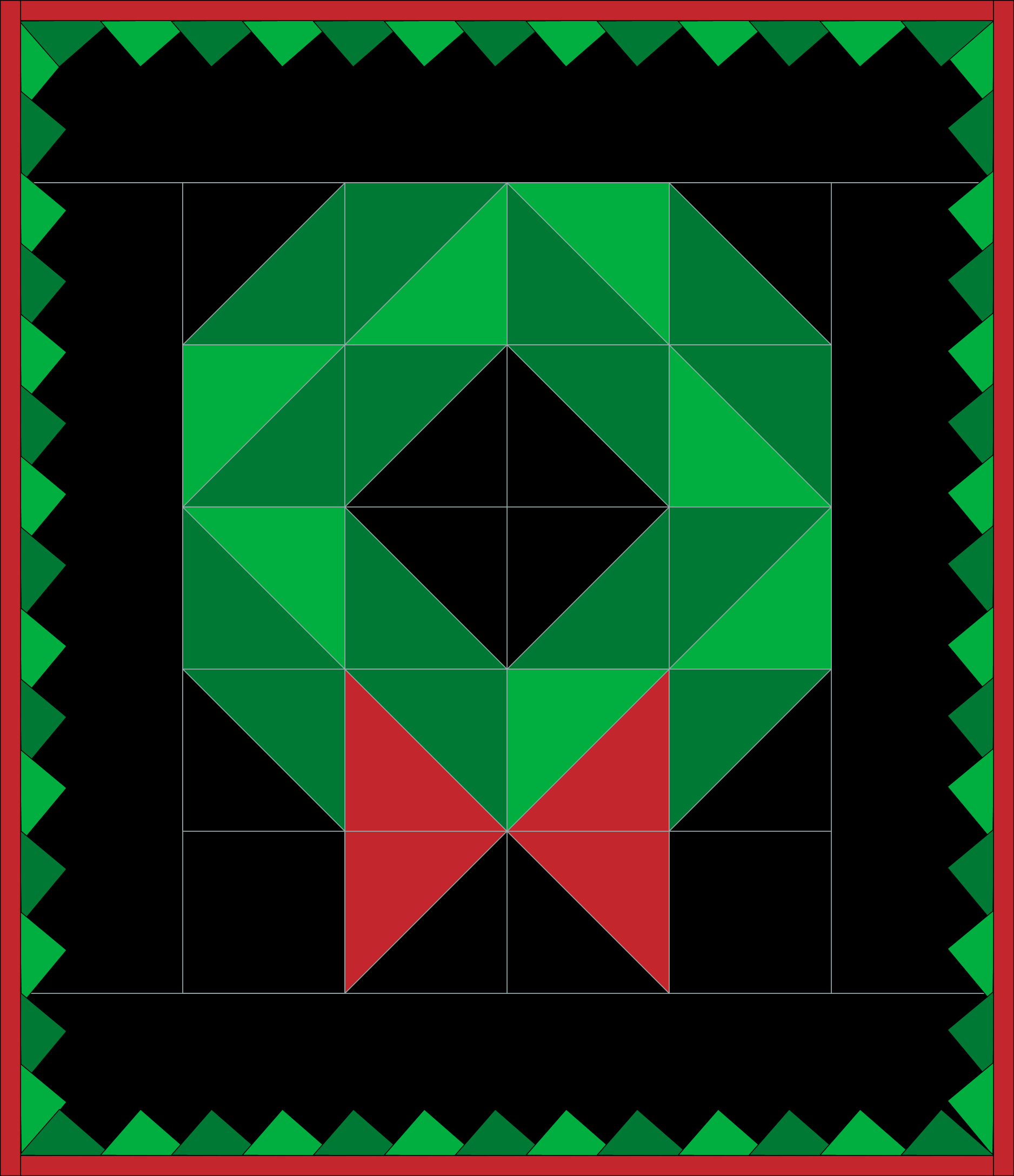 Christmas Wreath Quilt Assembly
