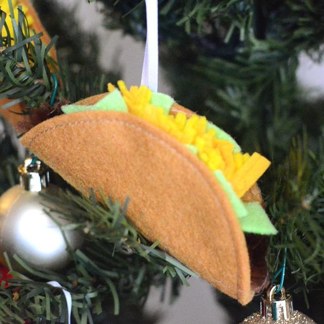 Felt Taco Ornament from Orange Bettie