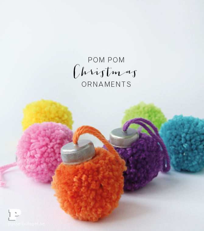 Pom Pom Ornaments from The Crafty Swedes