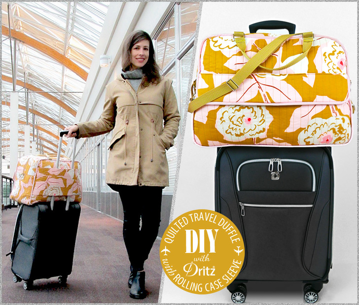 Quilted Travel Duffle with Rolling Case Sleeve from Sew4Home