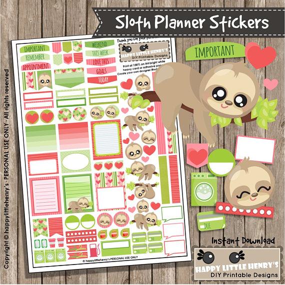 Sloth Planner Stickers from happylittlehenrys.jpg