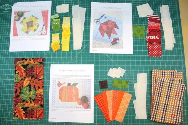 Supplies to start quilt blocks