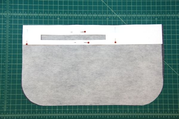 Pattern for zipper placement