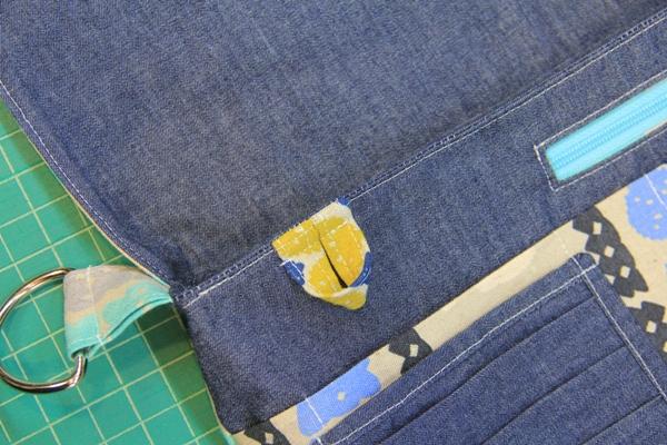 Stitch around top of bag