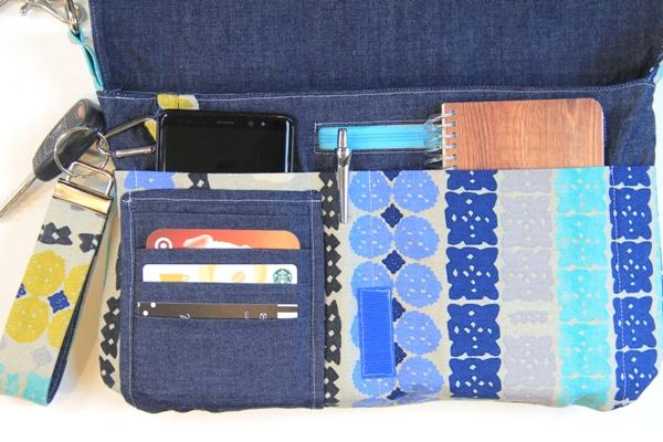 Inside of Tablet Mini Messenger Bag