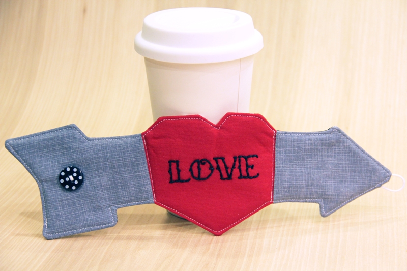 Heart and Arrow Coffee Sleeve - Crafty Staci 13