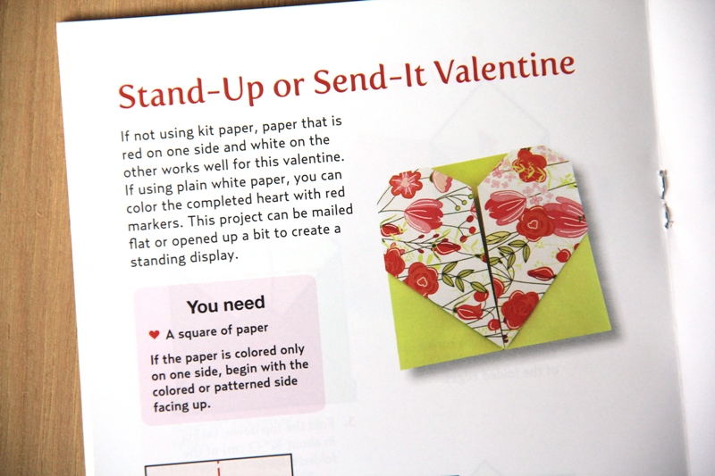 Stand-Up or Send-It Valentine from Origami Love Notes Kit