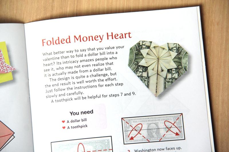Folded Money Heart from Origami Love Notes Kit
