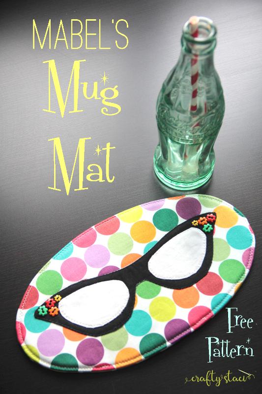 Mabel's Mug Mat from craftystaci.com