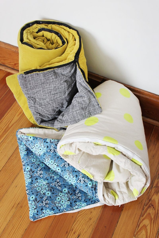DIY Sleeping Bags from A Beautiful Mess