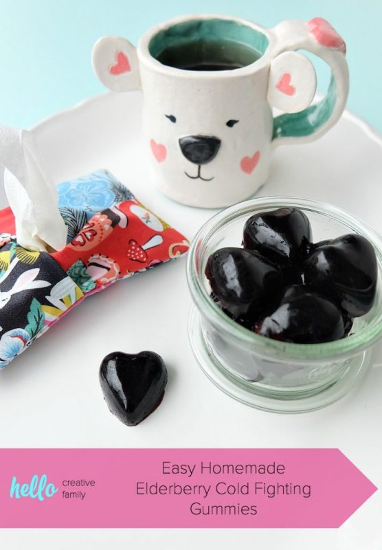 Homemade Elderberry Cold Fighting Gummies from Hello Creative Family