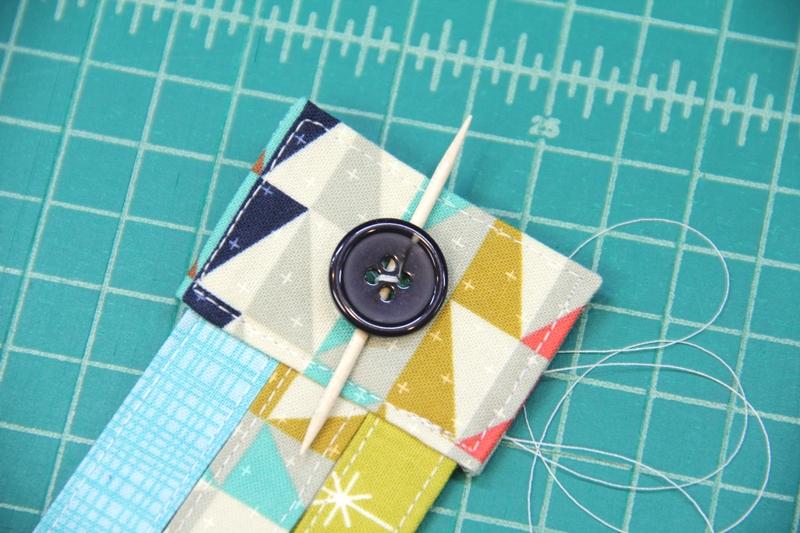 Stitching on button