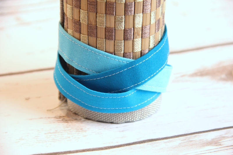 Braided Fabric Cuff Bracelet Tutorial on craftystaci.com