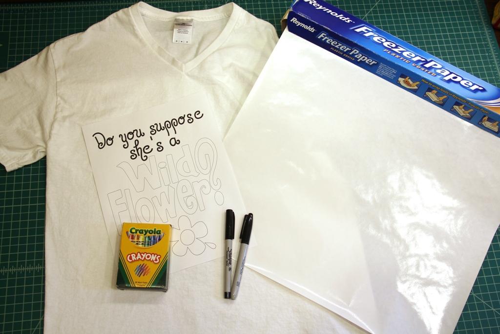 Alice in Wonderland T-shirt supplies