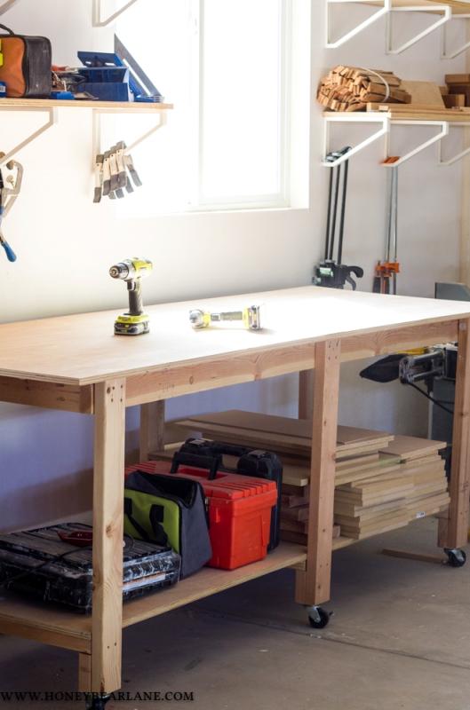 DIY Workbench from Honeybear Lane