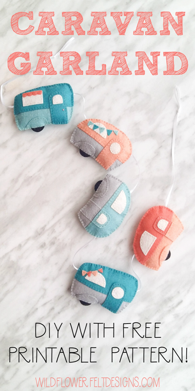 Felt Caravan Garland from Wildflower Felt Designs