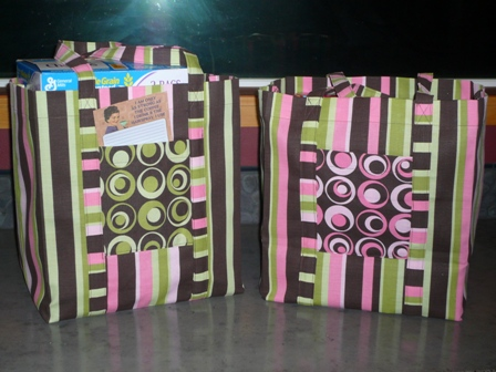 Reusable Shopping Bags on Crafty Staci