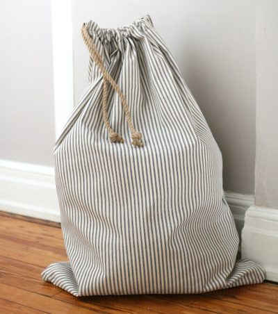 Drawstring Laundry Bag from eHow
