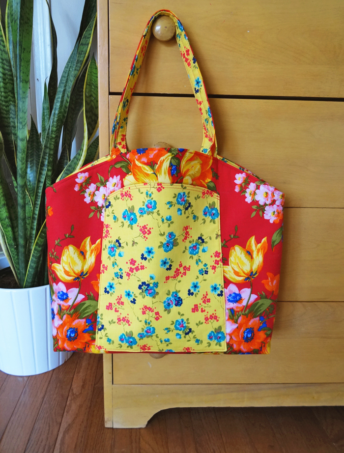 Pretty Floral Divided Tote from Thread Riding Hood