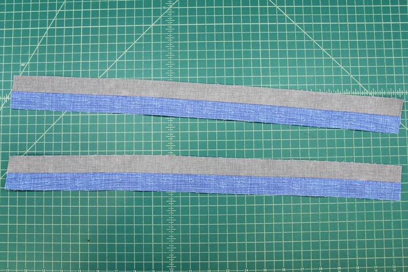 First set up strips sewn and cut