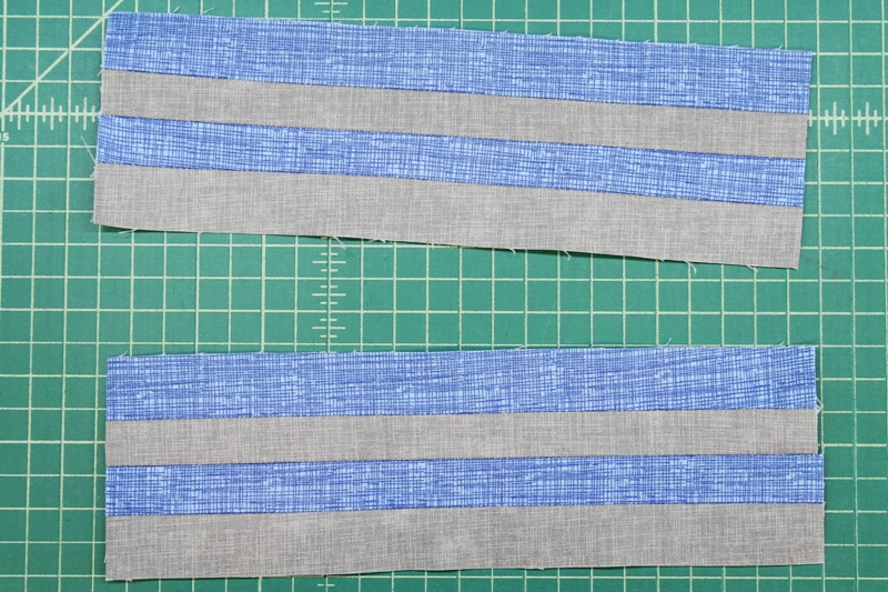Second set of strips sewn and cut