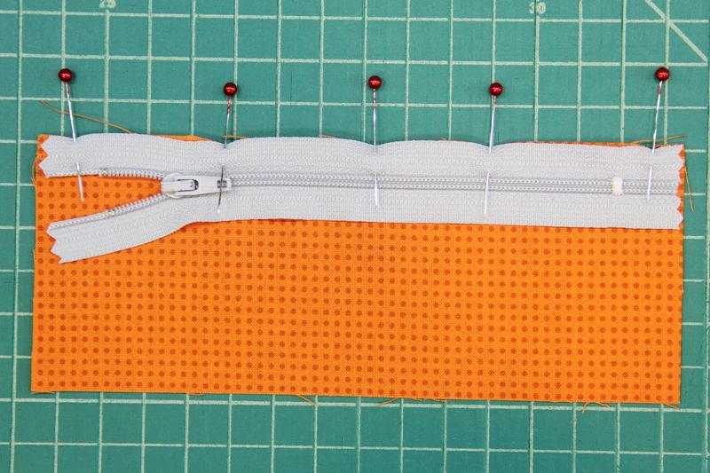 Pin zipper to pocket lining