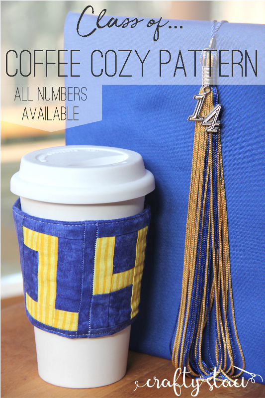 Class of...Coffee Cozy Pattern on craftystaci.com