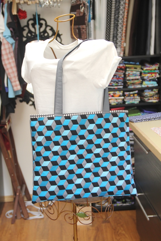 Triaxal Weave Tote on craftystaci.com #triaxalweave #madweave #tumblingblocks