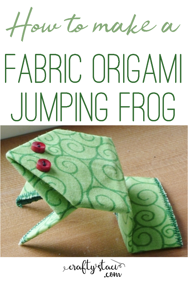 How to Make a Fabric Origami Jumping Frog from craftystaci.com #fabricorigami #origami