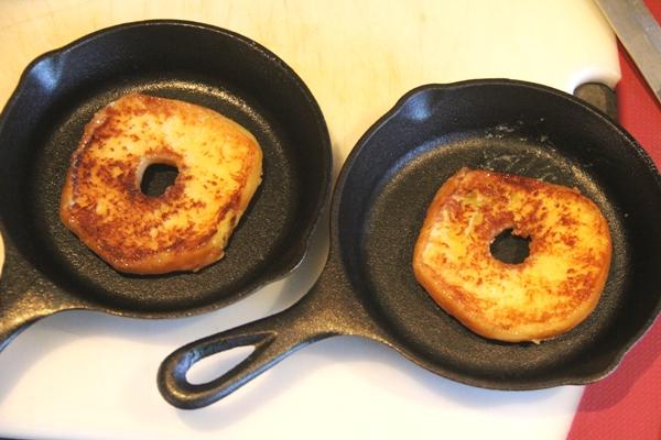 Toasted doughnuts