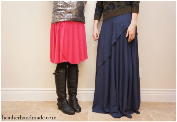 Adjustable One Seam Wrap Skirt from Feather's Flights