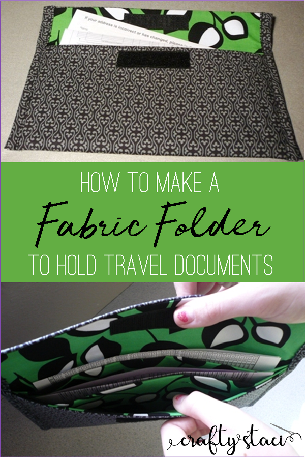 How to make a fabric folder to hold travel documents from craftystaci.com #sewingfortravel #simplesewing #freepattern