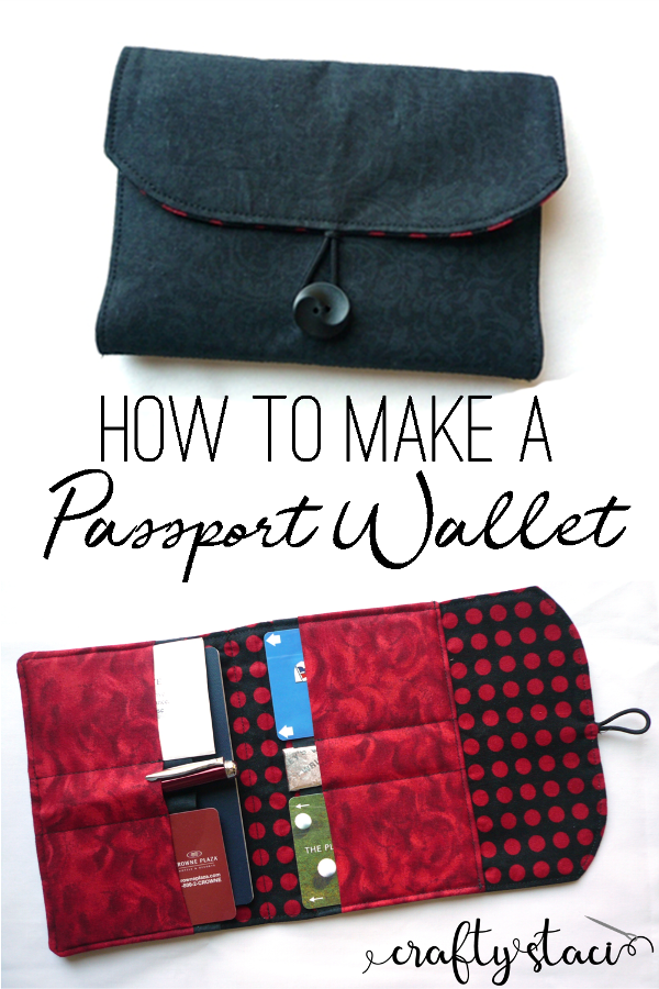 Free pattern to make a passport wallet from craftystaci.com