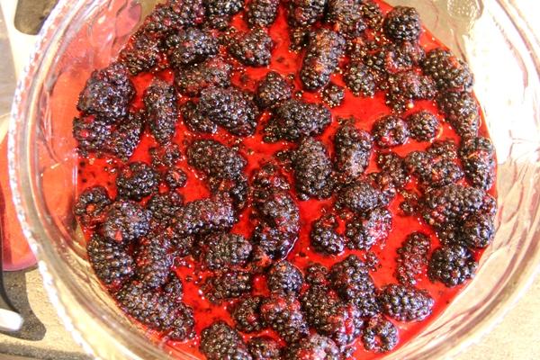 Berries in baking dish