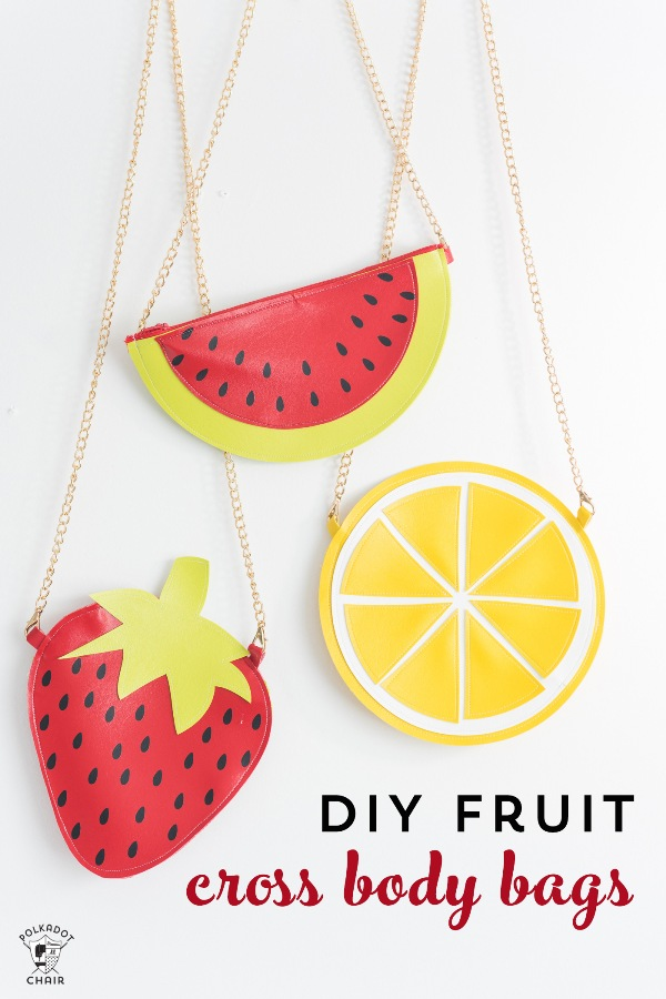 Fruit Crossbody Bag Patterns from Polkadot Chair