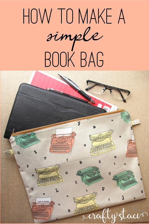 How to sew a simple book bag from craftystaci.com #backtoschool #bagstosew #easysewing