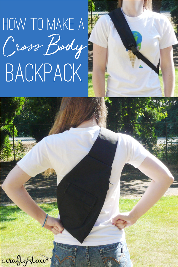 How to make a Cross Body Backpack from craftystaci.com #backtoschoolsewing #bagpatterns