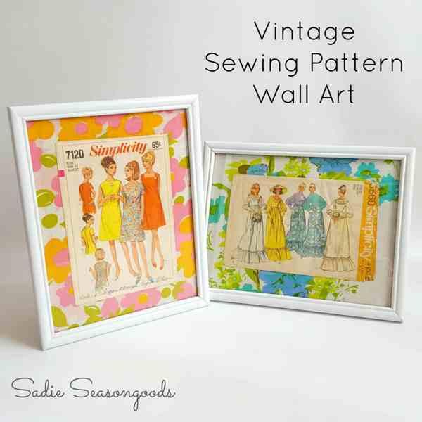 Sewing Pattern Wall Art from Sadie Seasongoods