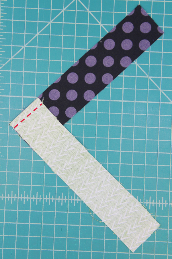 First seam sewn