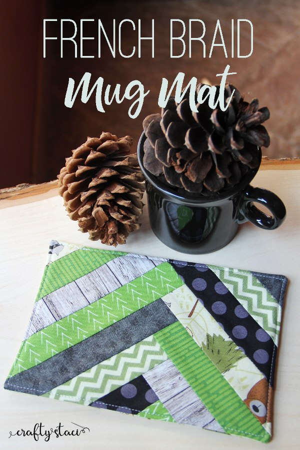 """""""French Braid"""" is a Free Mug Rug Pattern designed by Staci from Crafty Staci"""