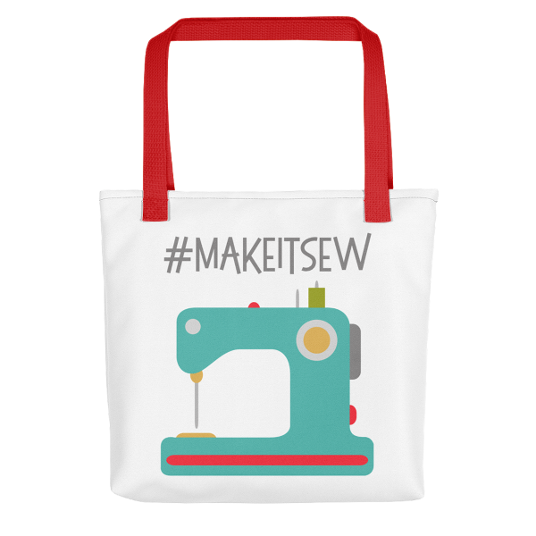 Make It Sew Tote Bag from craftystaci.com #sewingtote #sewingbag #makeitsew