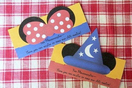 Mickey and Minnie Mousekeeping Tip Envelopes - Crafty Staci 1