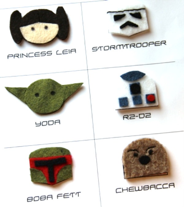 Star Wars Hair Clips or Shoe Toppers by Crafty Staci 1