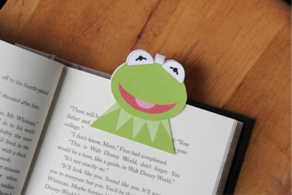 Kermit on book