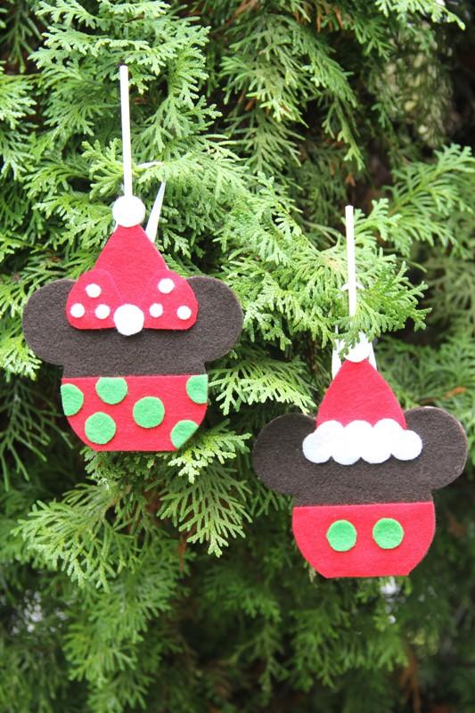 Mickey and Minnie Caramel Apple Ornaments
