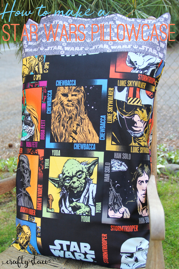 Star Wars Pillowcase from craftystaci.com #starwarscrafts #disneycrafts #disneyland #starwarsland #galaxysedge