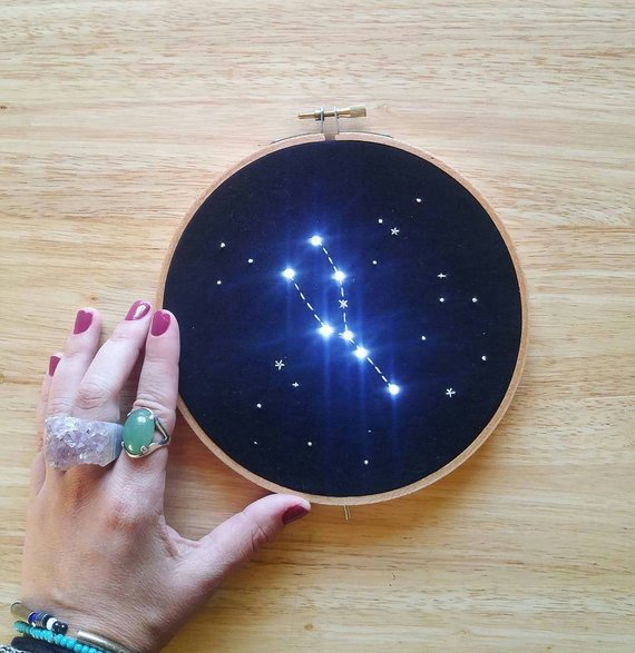 Lighted Constellation Embroidery Hoop Art from AmaoCrafts.jpg