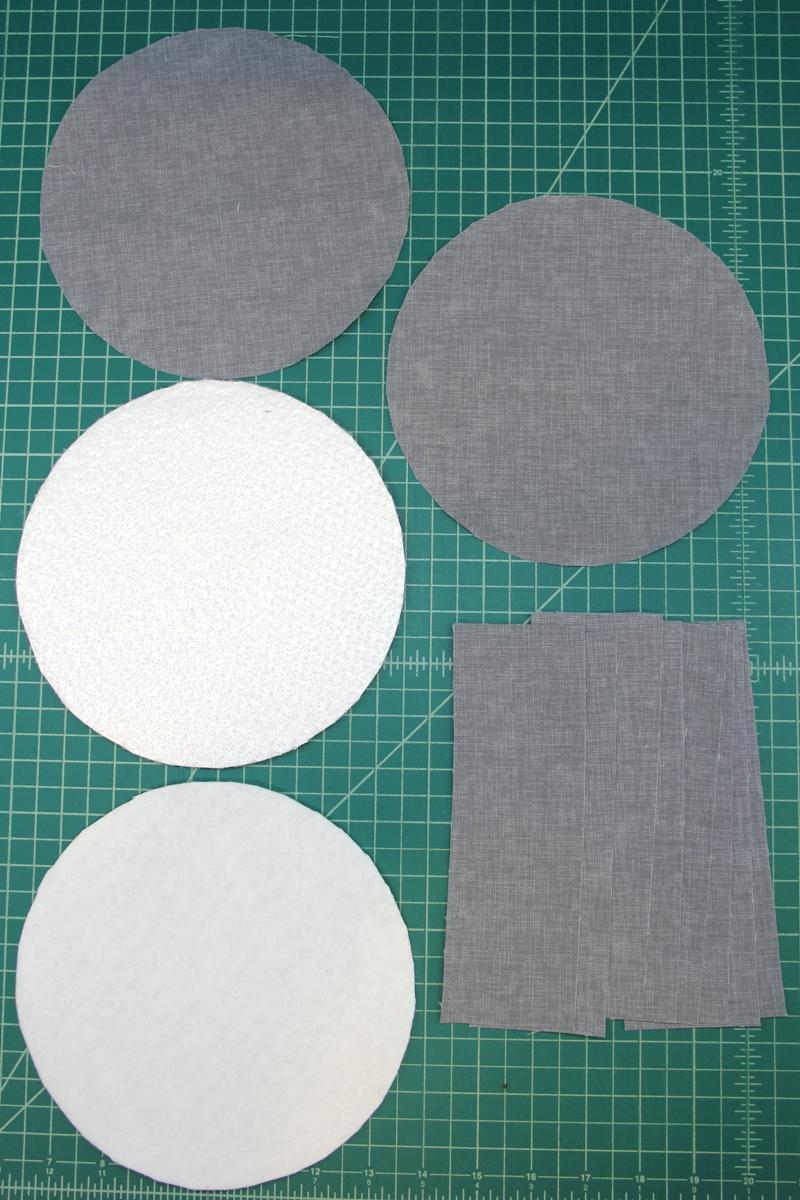 Cut pieces for spider mug mat